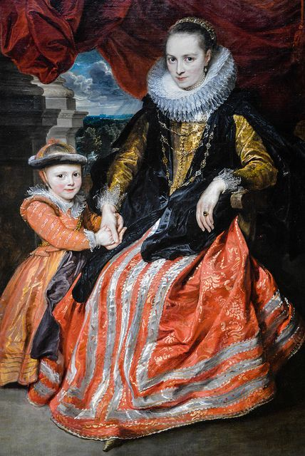 Anthony Van Dyck (Belgian) - Susanna Fourment and Her Daughter, 1621, at the National Art Gallery Washington DC #art