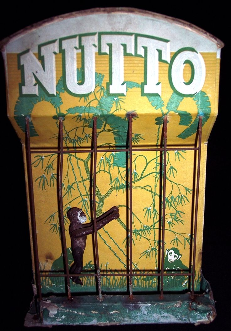Nutto, a performing monkey in a cage, works by falling sand