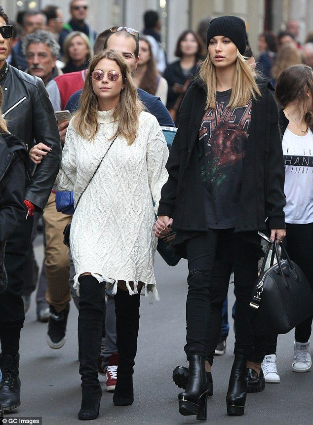 Blonde beauties: After Ashley and Shay's shopping trip Benson was spotted with Stephen Baldwin's daughter, Hailey Baldwin
