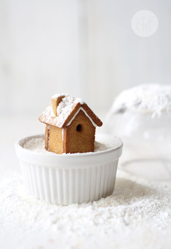 edible snow globe with gingerbread house