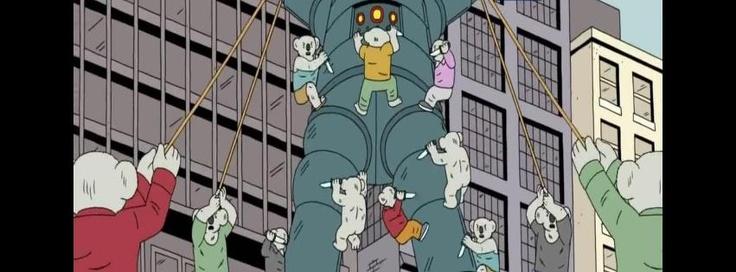 A posse of koala men.