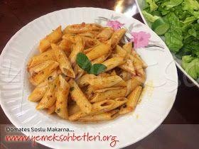 domates soslu makarna, domatesli makarna, makarna tarifleri, pratik makarna tarifleri, makarna nasil pişirilir, tencere yemekleri, yoreselyemekler, pilavlarmakarnalar,