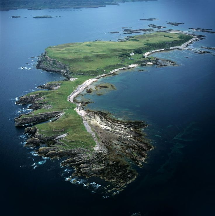 Inch Kenneth, Isle of Mull, Scotland - Photo from helicopter