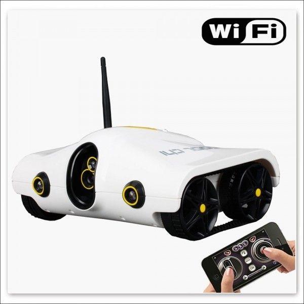 Tank caméra espion radiocommandée par iPhone iPad WIFI vision nocturne. http://www.yonis-shop.com/camera-espion/898-tank-camera-espion-radiocommandee-par-iphone-ipad-wifi-vision-nocturne.html