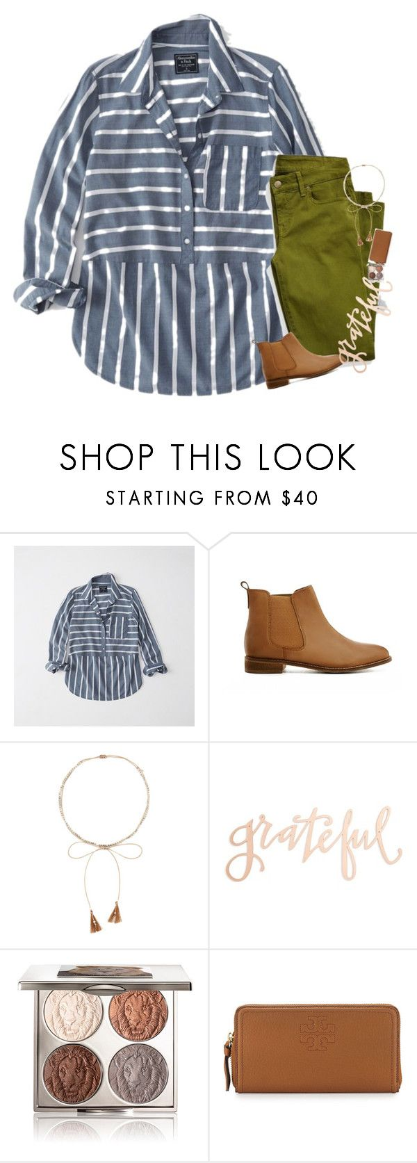 """""""HOMECOMING TODAY!!!"""" by mac-moses ❤ liked on Polyvore featuring Abercrombie & Fitch, ASOS, Chan Luu, Primitives By Kathy, Chantecaille and Tory Burch"""