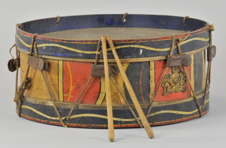 Early wooden child's drum, 1890's
