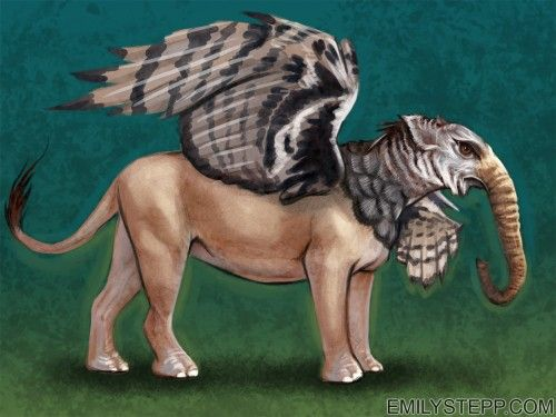 Elephant Eagle Lion by Emily Stepp | Puzzling Pachyderms ...