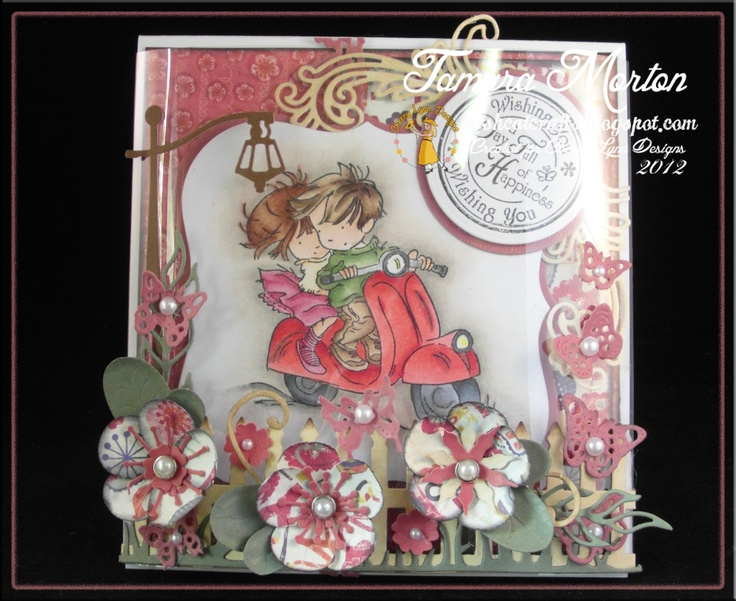 Acetate Domed Card using Cheery Lynn Dies and Lilli of the Valley Stamps