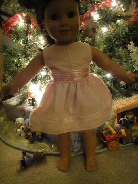 "Here is a free pattern for a very basic yet versatile dress to fit an American Girl or 18"" doll. This is a great beginner sewing pattern to learn with!"