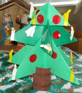 Vouwen 3d: kerstboom