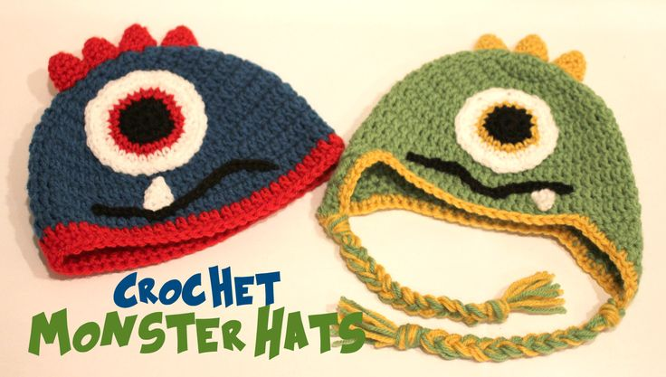 Repeat Crafter Me: Crochet Monster Hats - Made this for a special little boy,  These are so Fun!