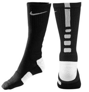 Nike elite socks.  His favorite socks to wear - wants orange, royal blue, red & black ones.  Youth Medium