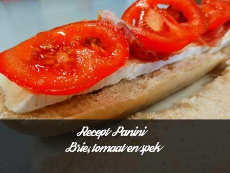 Recept voor panini met brie tomaat en spek. Voor die Bourgondische lekkerbekken die houden van een panini waar de kaas uit komt lopen.
