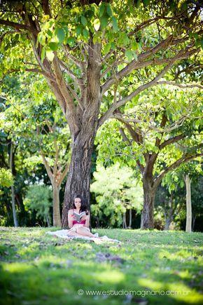 Mais uma ideia simples mais linda para tirar fotos em parques ou praças...