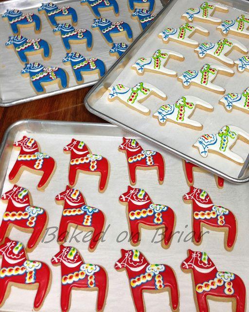 Dalahästen Julkakor ~ Dala Horse Christmas Cookies
