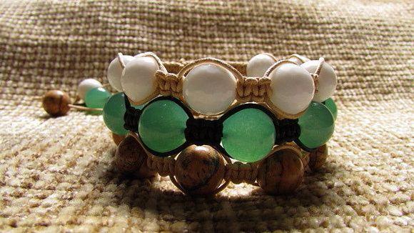 Conjunto pulseiras de pedras jade!