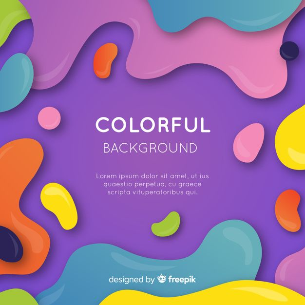 Download Colorful Abstract Background With Flat Design For Free
