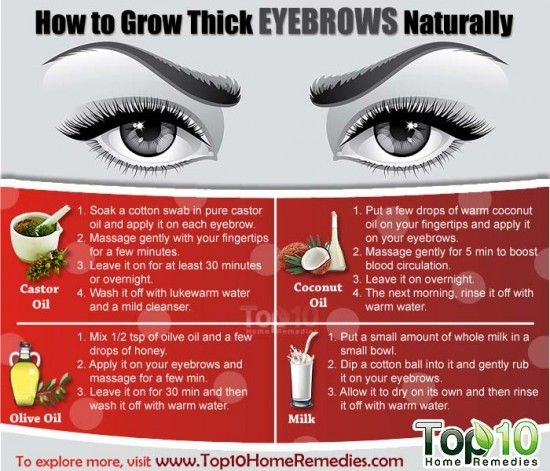 How to grow eyebrows naturally
