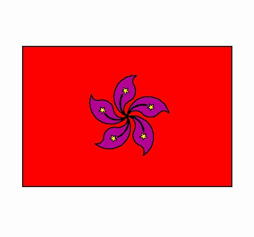 Hong Kong Flag Coloring Picture At Coloring Pages Book For Kids
