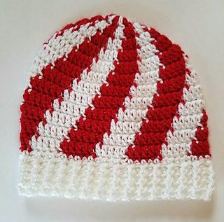 Ravelry: Peppermint Stripe Beanie pattern by Something From Knotting Creations (Debbi Hall)