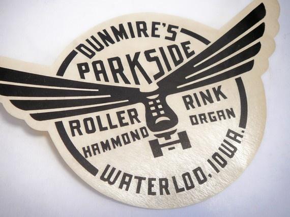 Vintage Decal Skating Roller Rink Souvenir