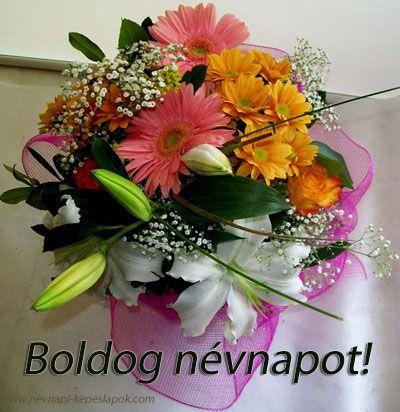virágcsokor névnapi képeslap   Névnapi Képeslapok