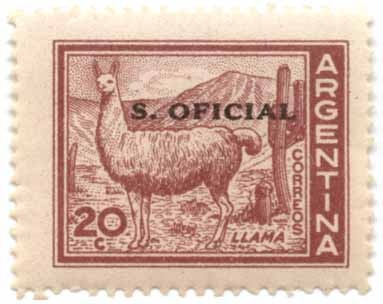 official llama postage stamp of Argentina