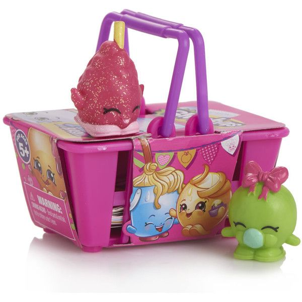 Shopkins Basket Collectable Characters 2pk ($3.23) ❤ liked on Polyvore featuring home, home decor, small item storage, shopkins baskets, music home decor, stackable baskets, colored lanterns and shopkins