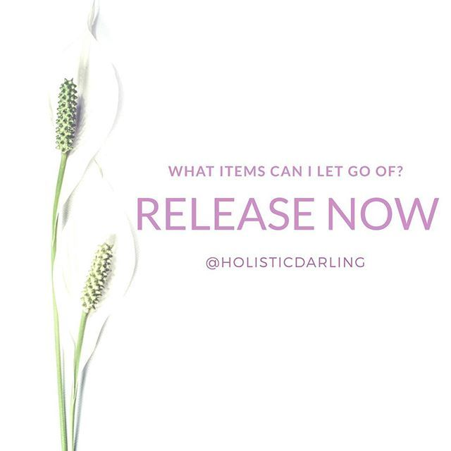 Affirmation: Release. What Items can I let go of? www.HolisticDarling.com @HolisticDarling #affirmation #selflove #selfcare #wellness #holistic #bossbabe #motivationalquotes #motivational #inspirational