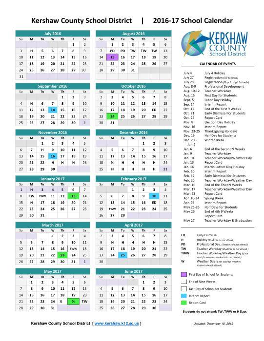 The 25+ best 2016 17 calendar ideas on Pinterest 2016 17 school - school calendar