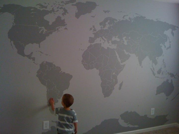 20 best map images on pinterest world map mural murals and wall my collection of maps wouldnt be complete without weber s diy world map mural gumiabroncs Choice Image