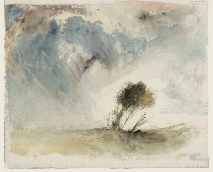 John Mallord William Turner - Trees in a Strong Breeze, circa 1820