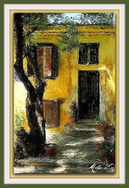 Peinture: La maison jaune - Le site de Maître Zen