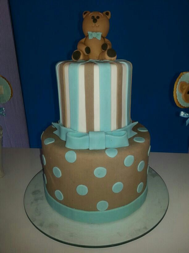 Torta De Baby Shower De Ositos Cake Desserts Baby Shower
