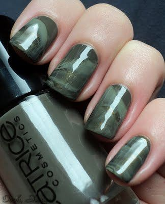 marbled camo nails