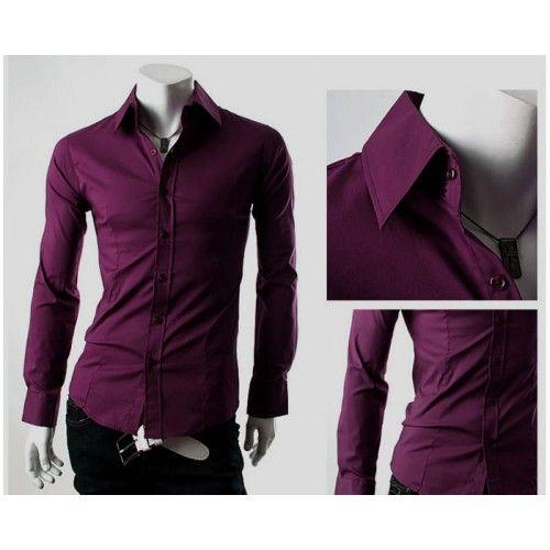 Мужские рубашки фиолетовые