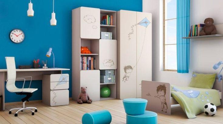 Habitación infantil en azul y blanco