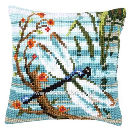 Buy Dragonfly Cushion Front Chunky Cross Stitch Kit online at sewandso.co.uk