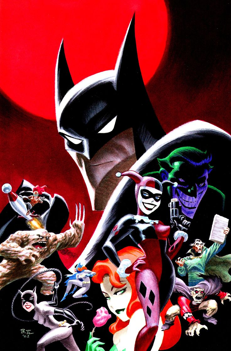 """Batman: The Animated Series"" art gallery - by Bruce Timm"