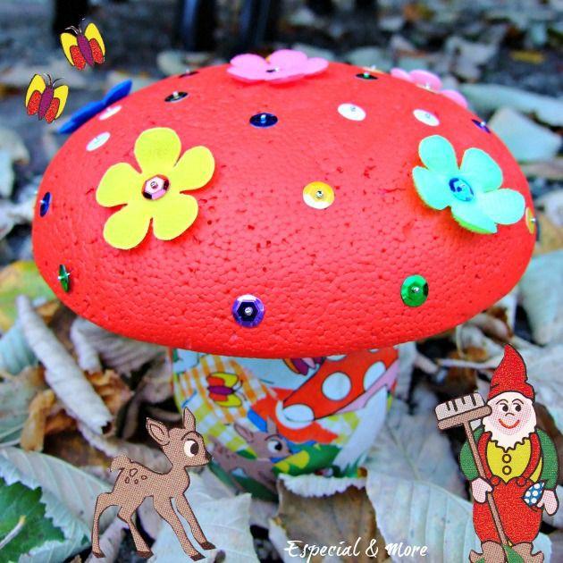 knutselpakket voor kinderen: paddenstoel