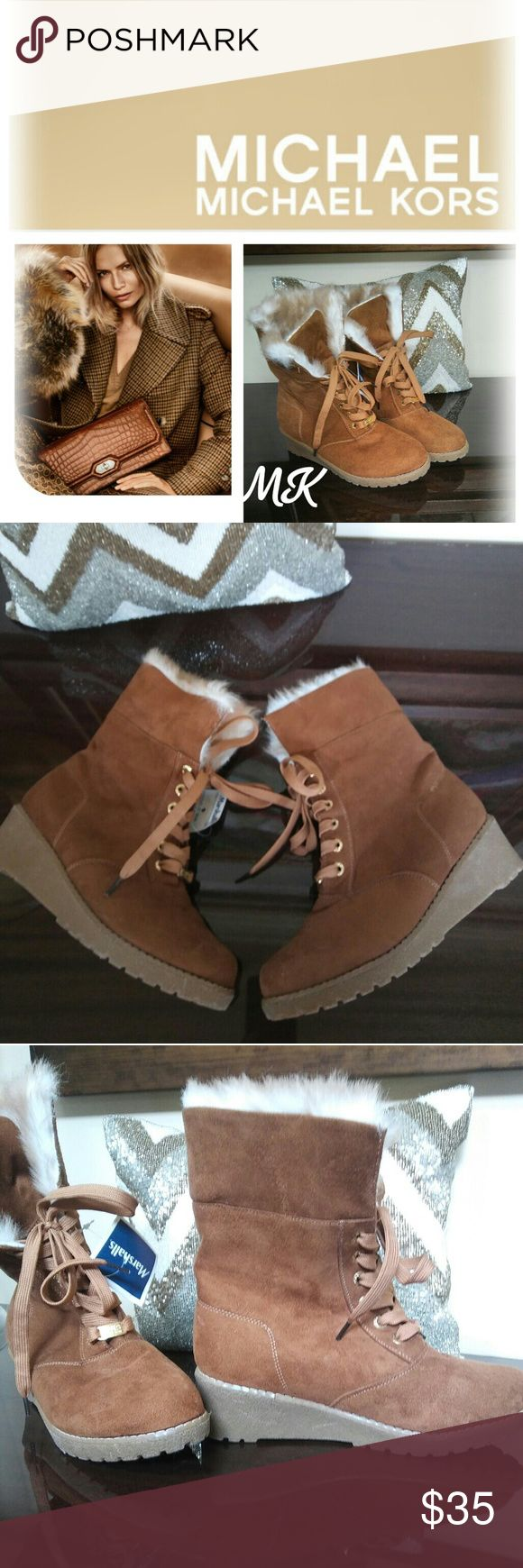 Price Drop authentic Michael Kors Boots w/ tags Suede MK Boots New w/ tags fits size 6 to 7 Michael Kors Collection Shoes