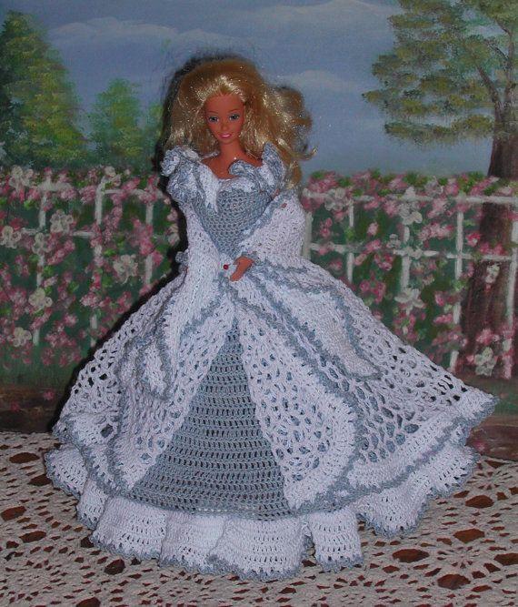 Crochet Fashion Doll Barbie Pattern 57 GARDEN by JudysDollPatterns