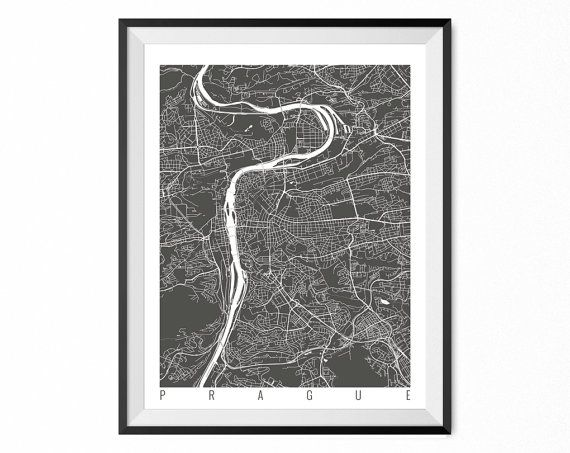 Hey, I found this really awesome Etsy listing at https://www.etsy.com/listing/209084181/prague-map-art-print-czech-republic