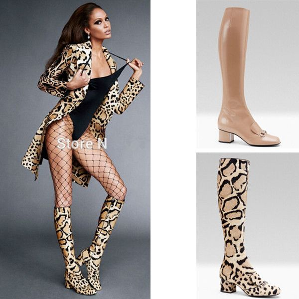 New Celebrity Spring Autumn Boots Sexy Point Toe Knee High