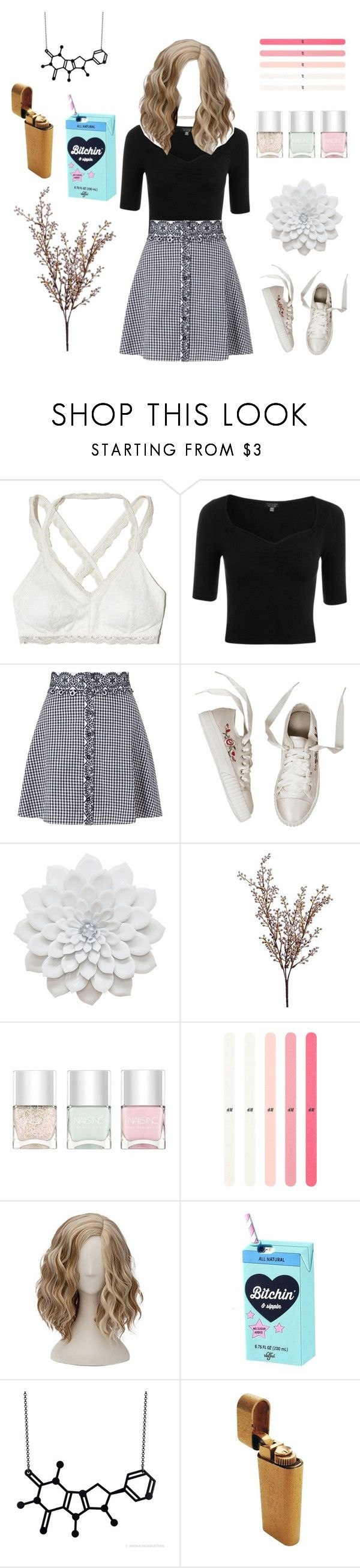 """Untitled #58"" by districttributes ❤ liked on Polyvore featuring Hollister Co., Topshop, Miss Selfridge, Wyld Home and Nails Inc."