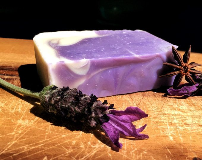 Beautiful and calming - lavender and anise - organic Shea - organic soap  by Oi Soaps Australia on Etsy.