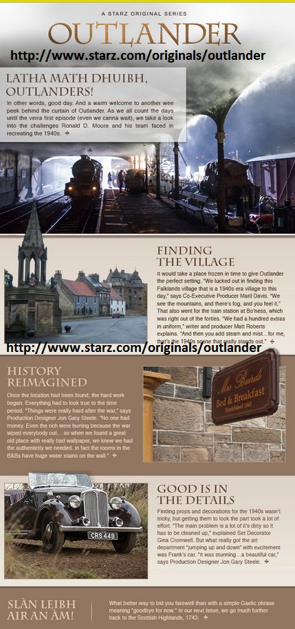 Outlander Newsletter for Starz TV Series (4/18/2014)
