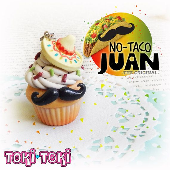 Hey, I found this really awesome Etsy listing at https://www.etsy.com/listing/251196006/cupcake-taco-keychain-mexican-mustache