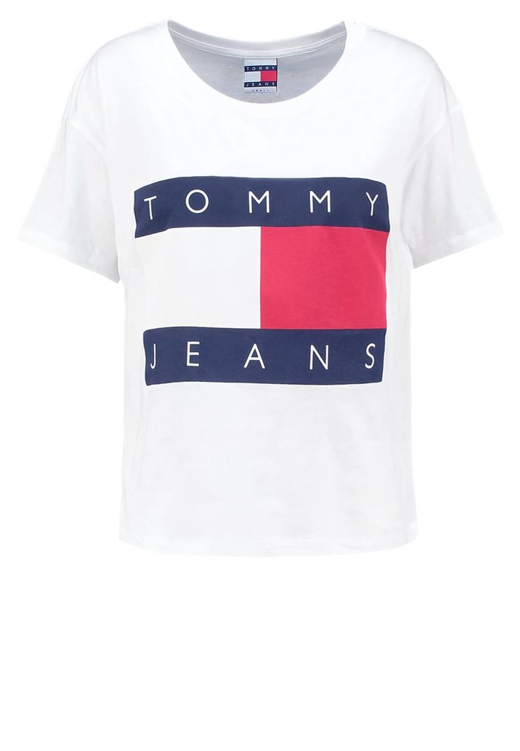 Hilfiger Denim 90S - Print T-shirt - white for £39.99 (30/10/16) with free delivery at Zalando