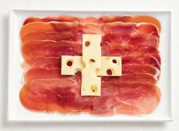 just what i like..some good swiss cheese and procuitto..maybe add some french bread and a coffee..life is good~